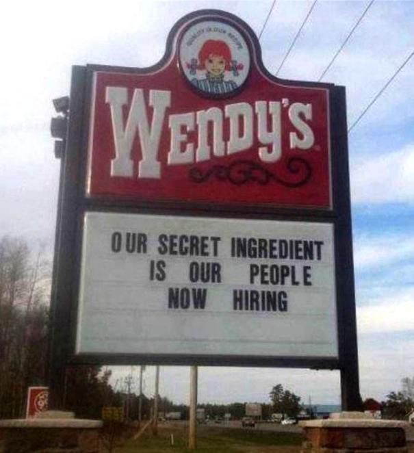 Wendy's billboard