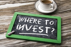 A chalkboard that says 'Where to Invest?'